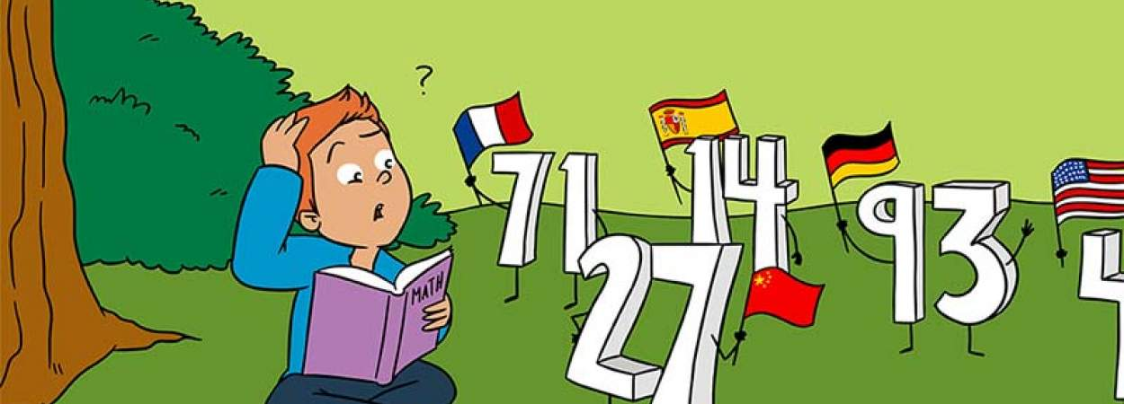 Forty-Two or Two-and-Forty: Learning Maths in Different Languages